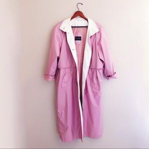 Vintage Raincoat Pink Trench Coat British Mist 14
